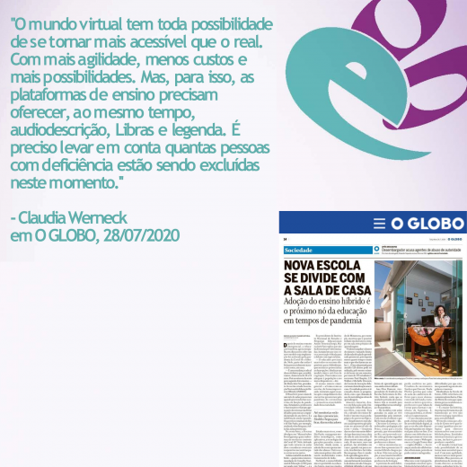 Aspas Claudia Werneck O Globo