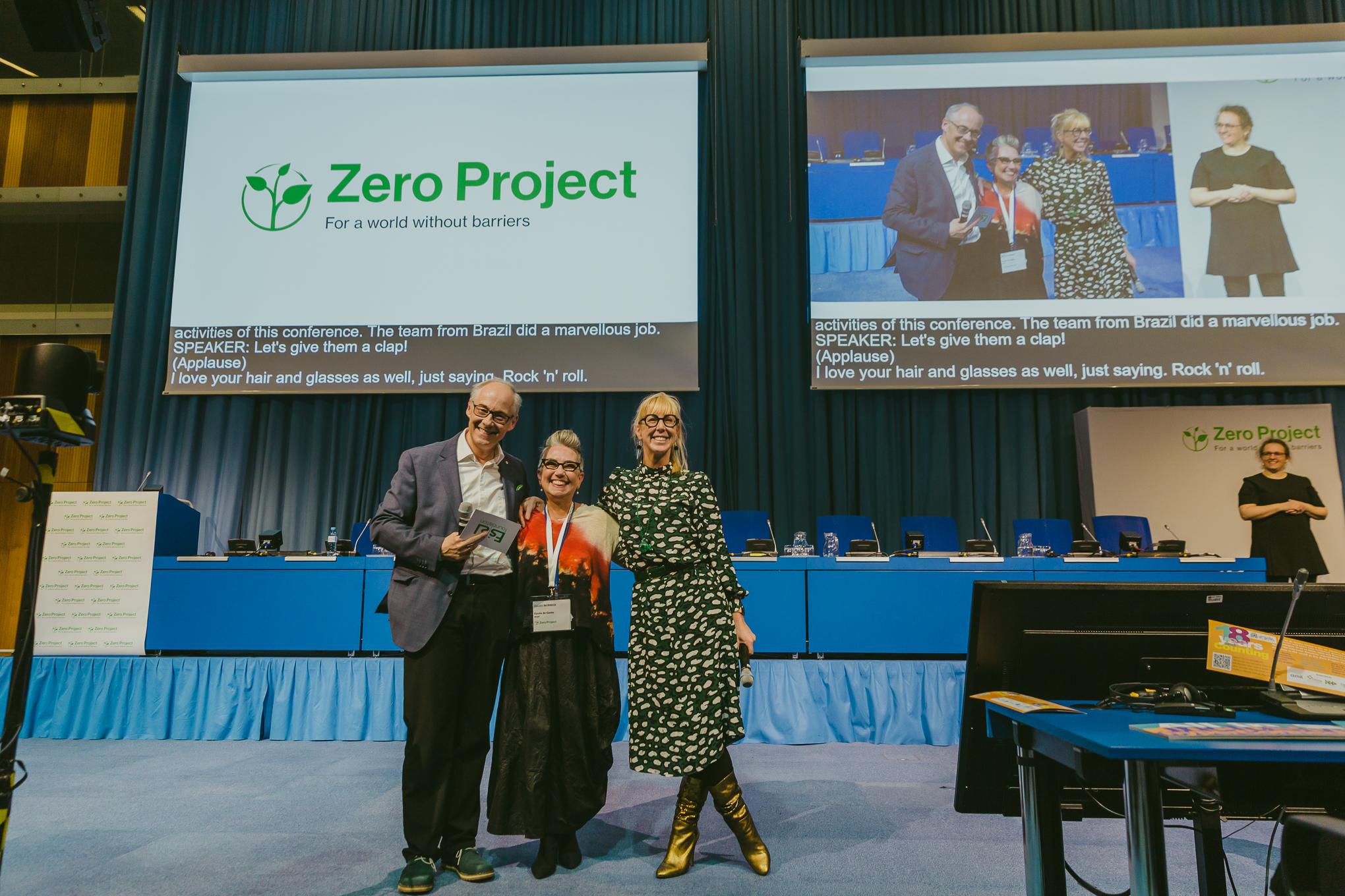 Auditório da Zero Project na sede da ONU em Viena.